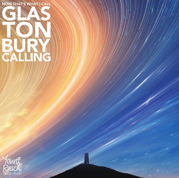 EP artwork for Glastonbury Calling, showing the silhouette of Glastonbury Tor beneath a time lapsed movement of the sky.